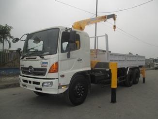 Xe tải Hino 16 TẤN FL8JTSA gắn Cẩu Soosan 5 TẤN SCS513