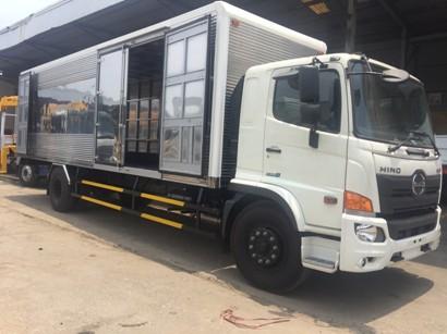 giá xe tải hino 8 tấn thùng kín tại bắc ninh