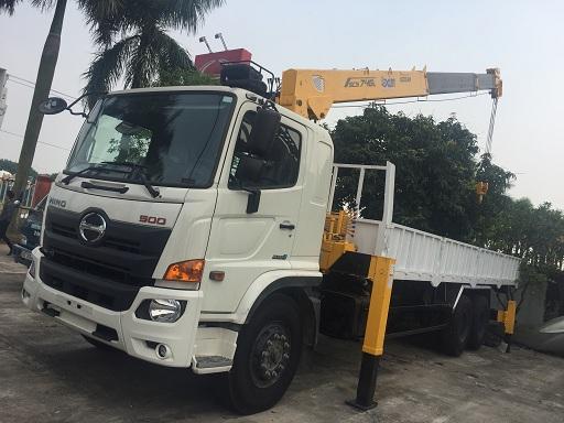 Gía xe tải hino 15 tấn gắn cẩu soosan 8 tân